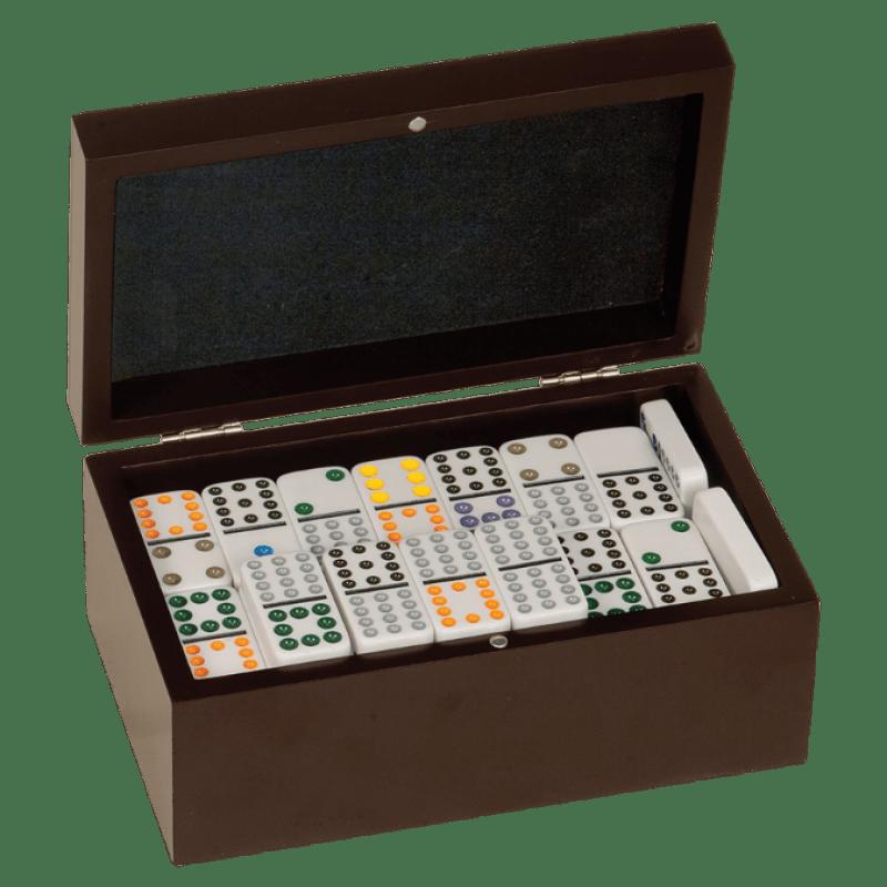 Rosewood Finish Domino Set